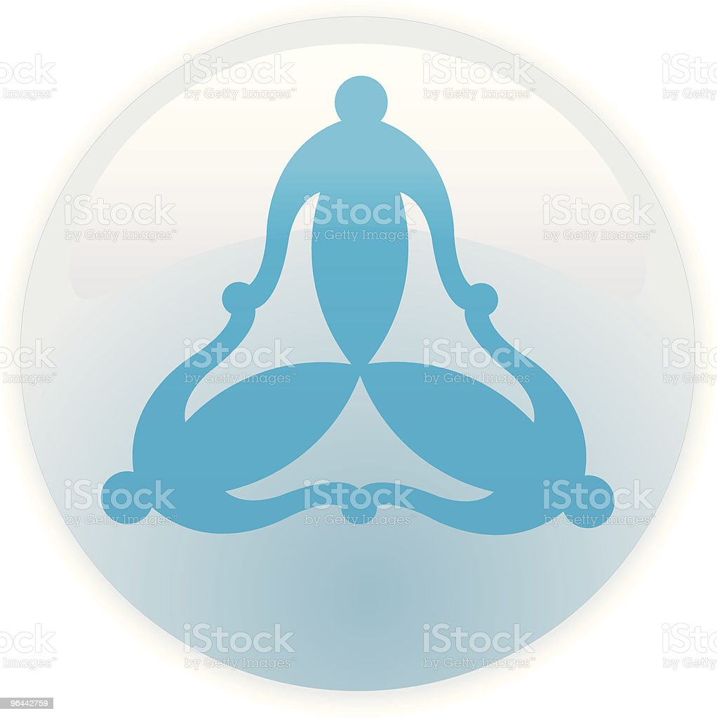 Three linked abstract people icon - Royalty-free Aan elkaar bevestigd vectorkunst