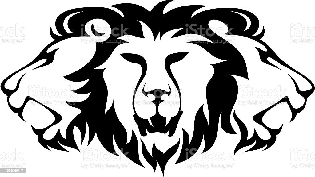 Three Lion royalty-free stock vector art