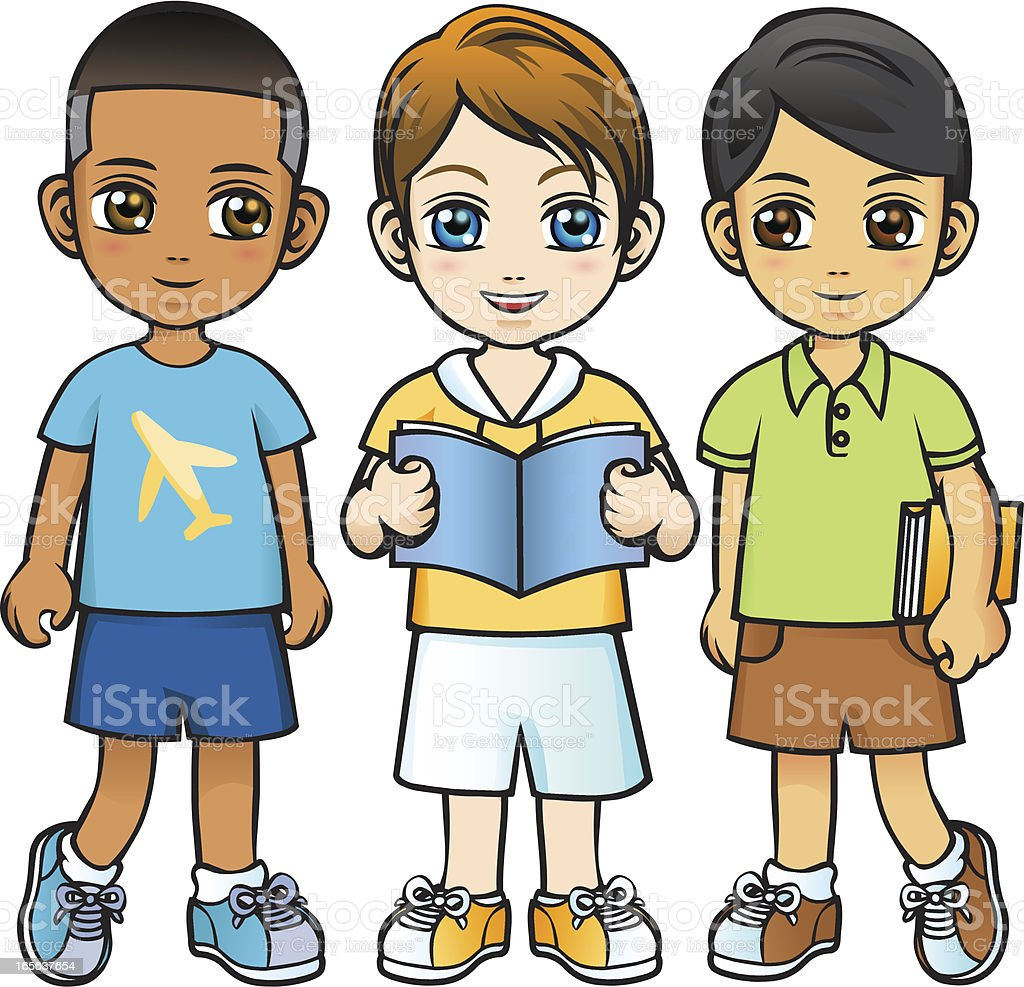 Three Little Boys without Background royalty-free three little boys without background stock vector art & more images of african ethnicity