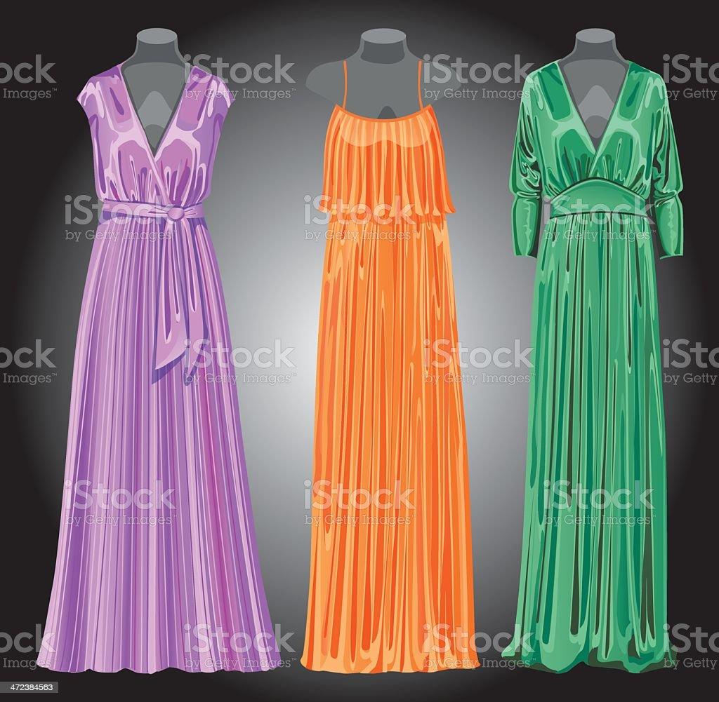 Vestidos de seda largos noche