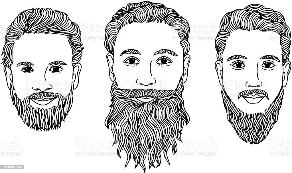 Three men with beards royalty-free three men with beards stock vector art & more images of adult