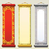 3 Message boards in Chinese style.