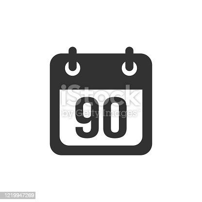 Three months vector icon on white background
