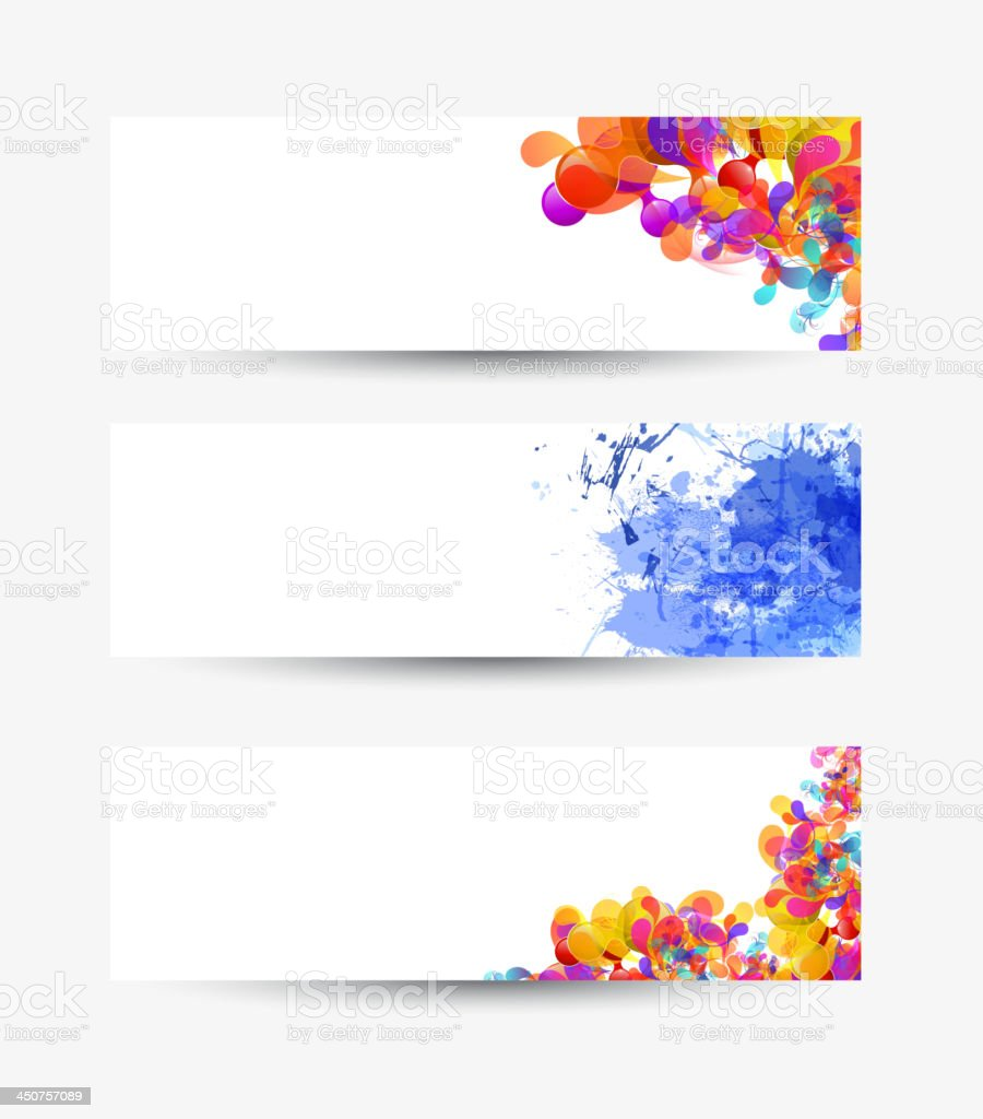 three multi-coloured banners royalty-free stock vector art