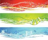 Three music banners