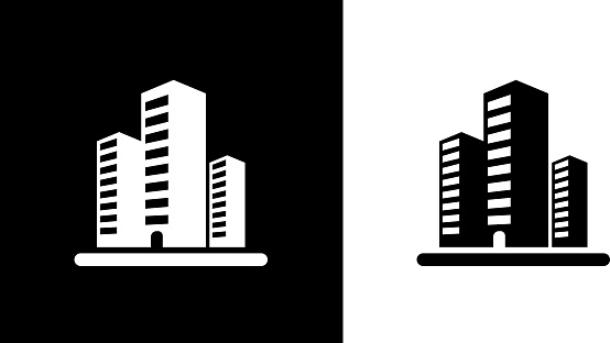 Three Office Buildings. clipart