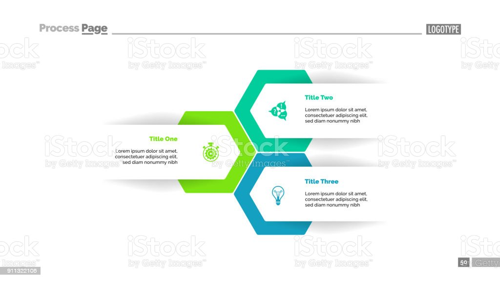 Three Options Plan Slide Template vector art illustration