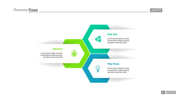 three options plan slide template - infographics stock illustrations, clip art, cartoons, & icons