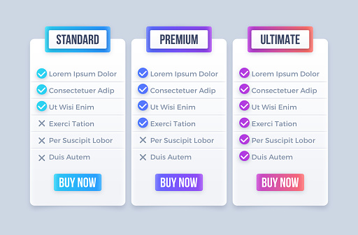 Three Package Options Standard Premium Ultimate Purchase Options