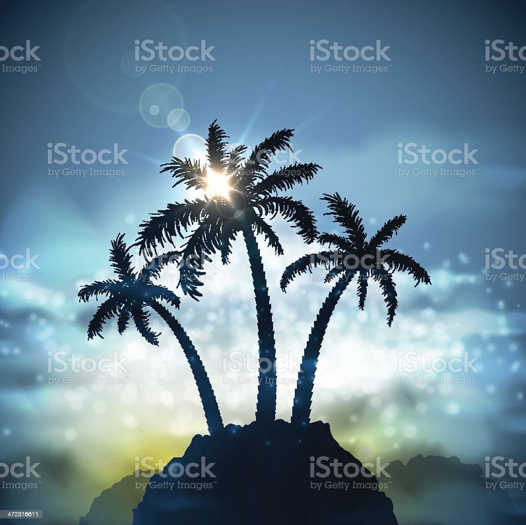 Three palm trees royalty-free three palm trees stock vector art & more images of backgrounds