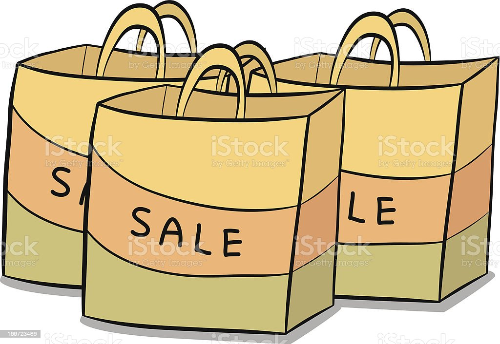 Three paper bags royalty-free stock vector art