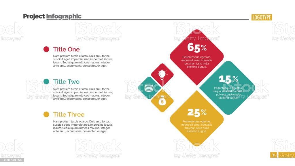 Drei Prozent Quadrate Schieben Vorlage Stock Vektor Art und mehr ...