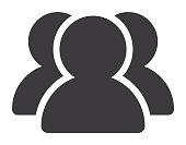 Three Person Silhouette Icon