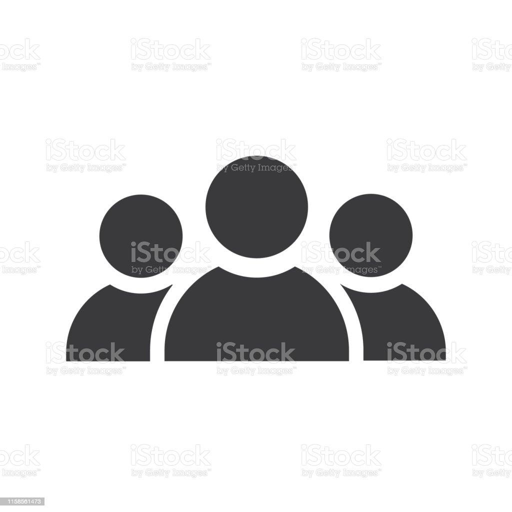 Three persons icon black - Vector - Royalty-free Adulto arte vetorial