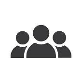 istock Three persons icon black - Vector 1158561473