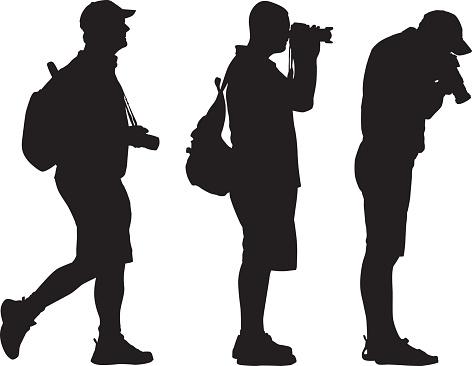 Three Photographer Silhouetts