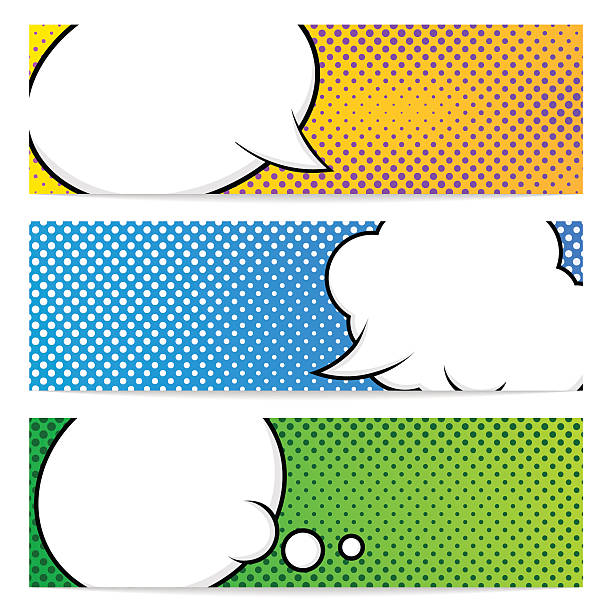 three pop art banners template - comic book stock illustrations, clip art, cartoons, & icons