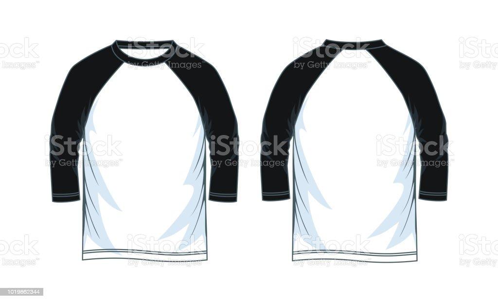 efb30067b2 ilustración de tres cuartos de longitud manga camisas raglán y más