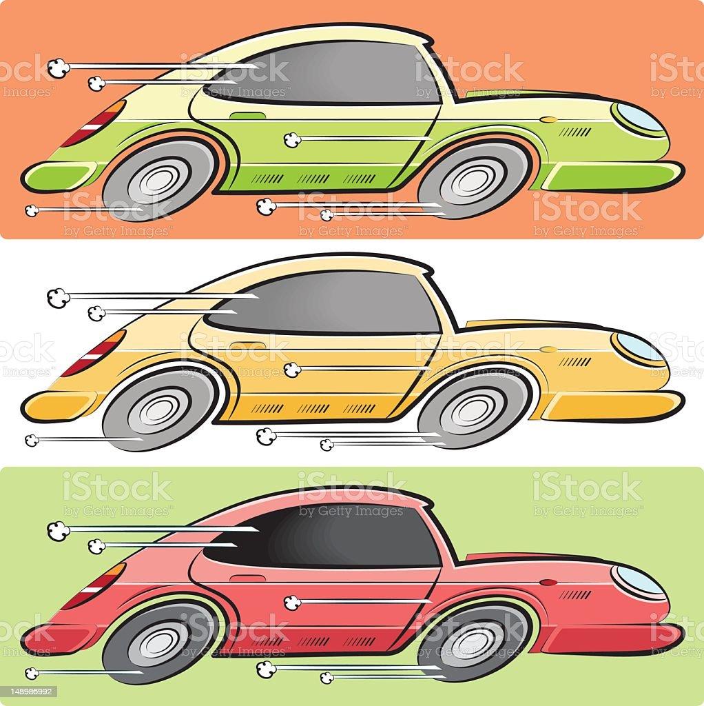 three racing cars royalty-free stock vector art