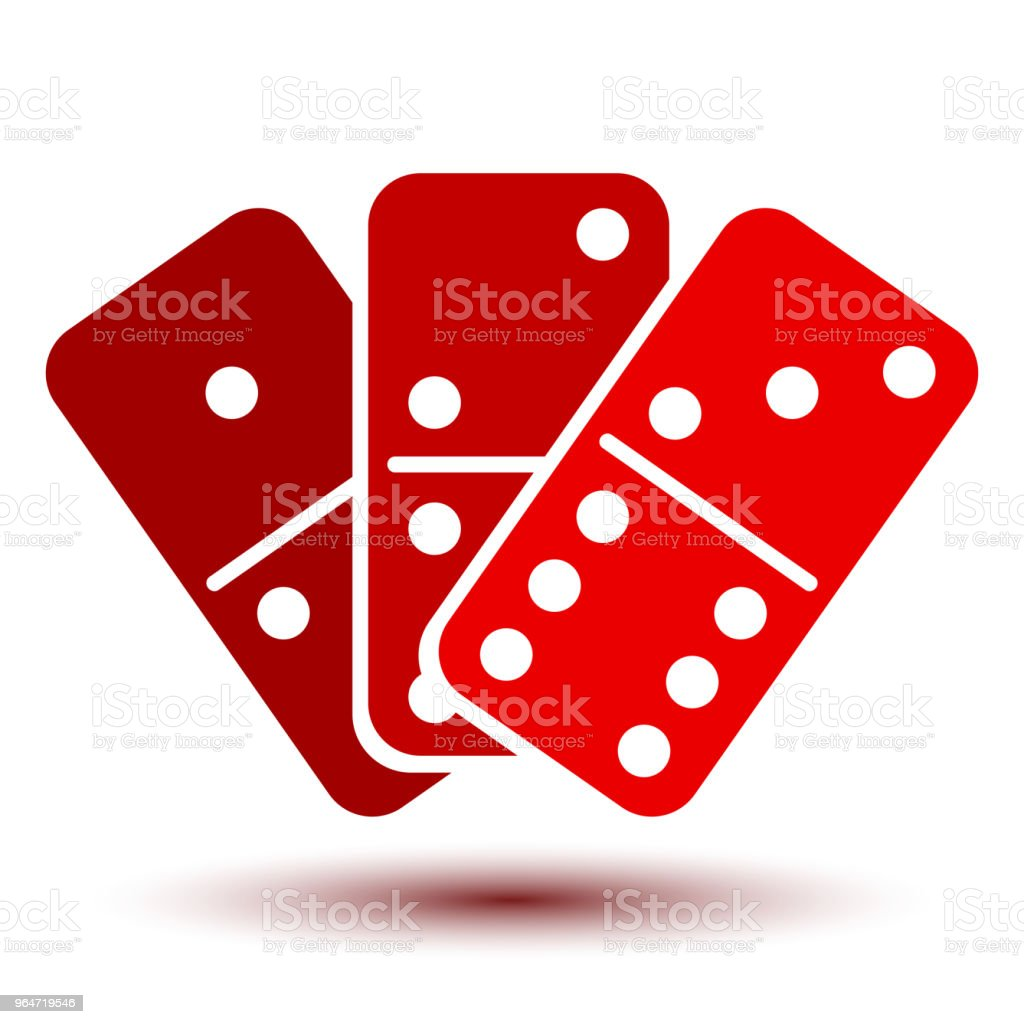 Three red domino, icon – stock vector royalty-free three red domino icon stock vector stock vector art & more images of activity
