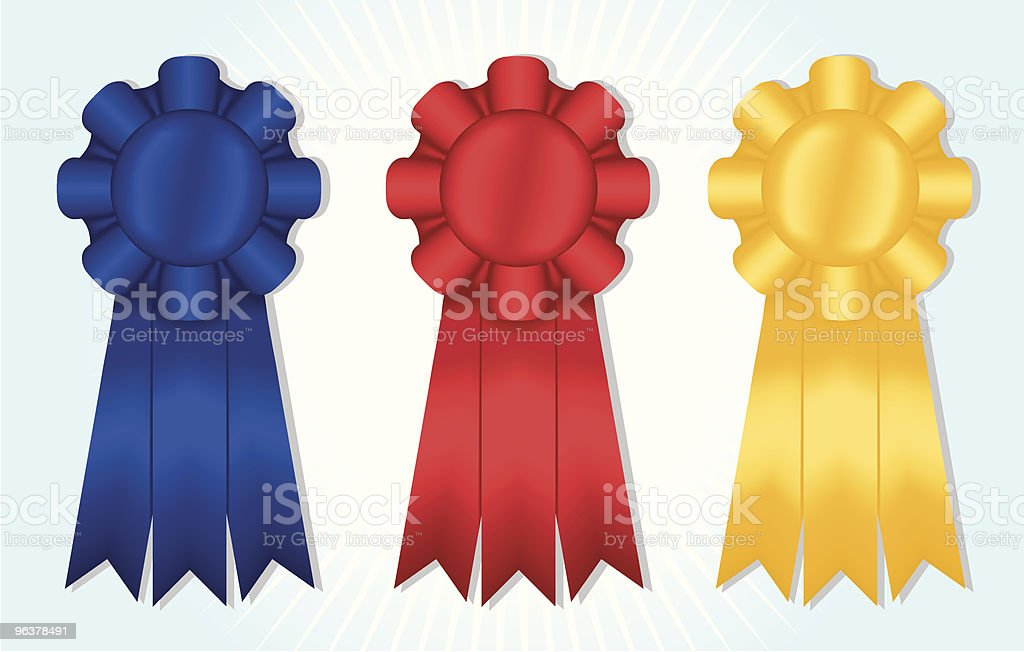 Three Ribbons royalty-free three ribbons stock vector art & more images of achievement