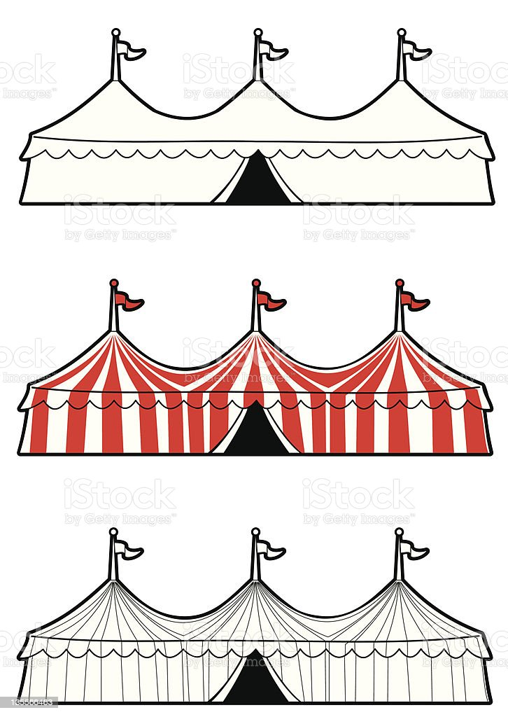 Three ring circus tent royalty-free three ring circus tent stock vector art u0026&;  sc 1 st  iStock & Three Ring Circus Tent Stock Vector Art u0026 More Images of Canvas ...