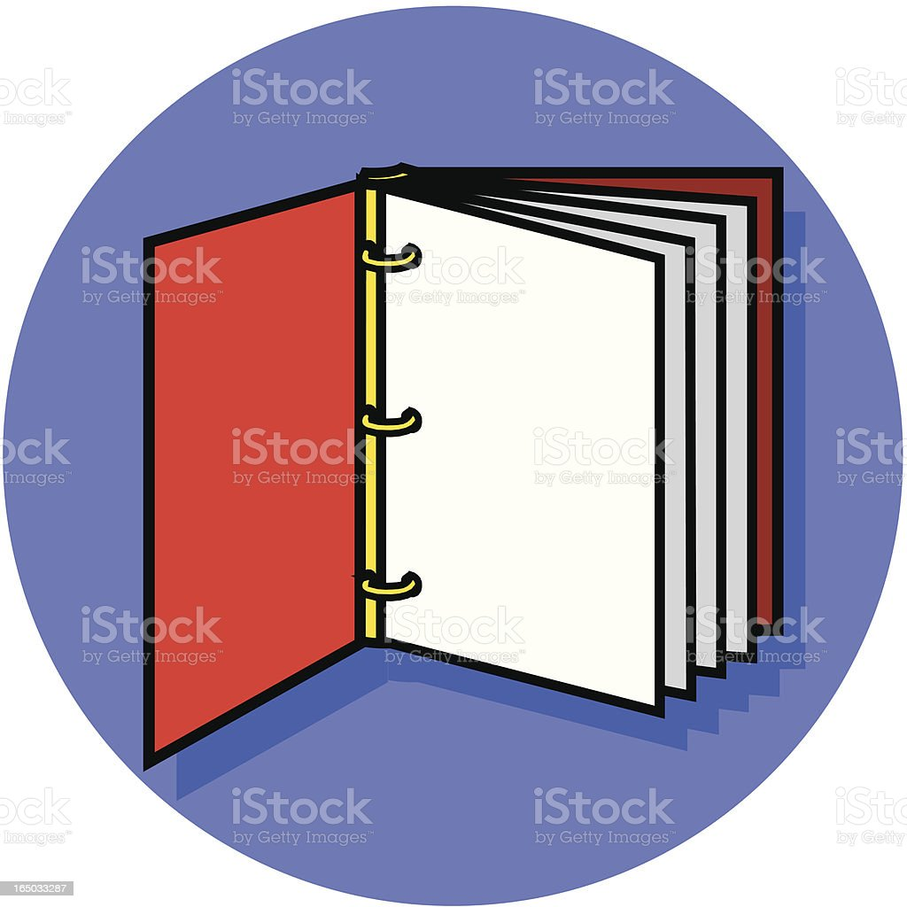 three ring notebook icon royalty-free stock vector art
