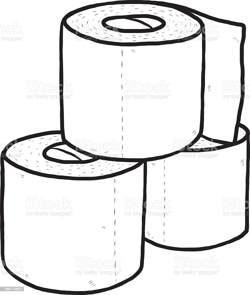 three roll of tissue paper stock vector art more images of 2015 rh istockphoto com toilet paper mummy clipart toilet paper holder clipart