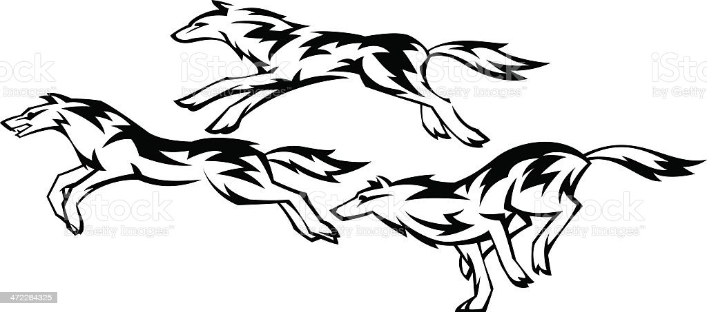 three running wolves stock vector art more images of animal rh istockphoto com wolf vectors free download wolf vector logo