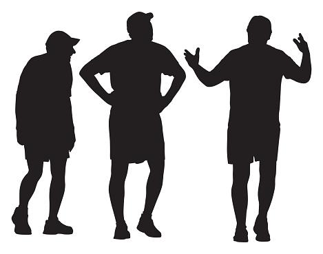Three Senior Men Walking Together