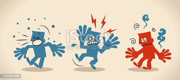 istock Three seriously ill people with symptoms of new coronavirus  (bacterium, virus) include fever, headache and cough 1204324062