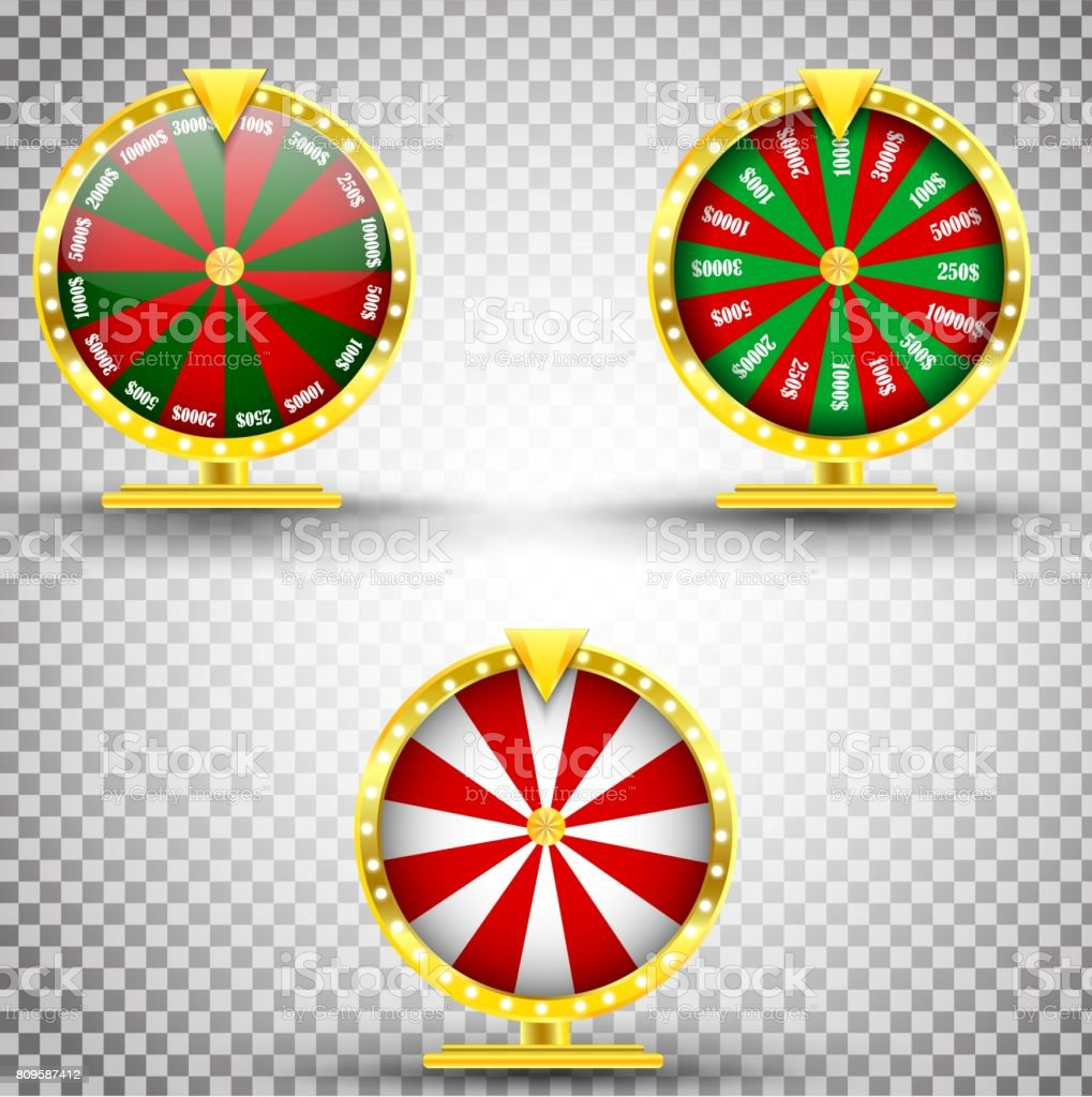 Three Set Wheel Of Fortune Gold Realisticjackpot Concept
