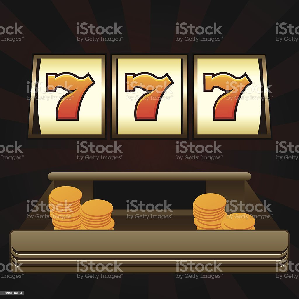 three seven in a row vector art illustration