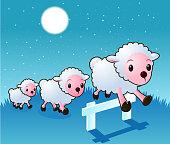 Sheep dreaming.
