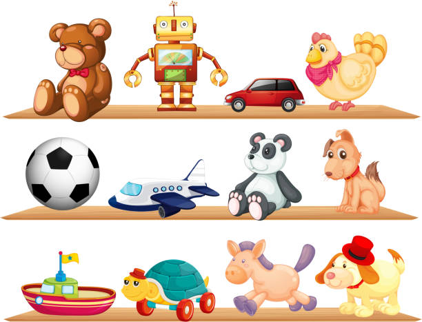 Toy Shelf Illustrations, Royalty-Free Vector Graphics ...