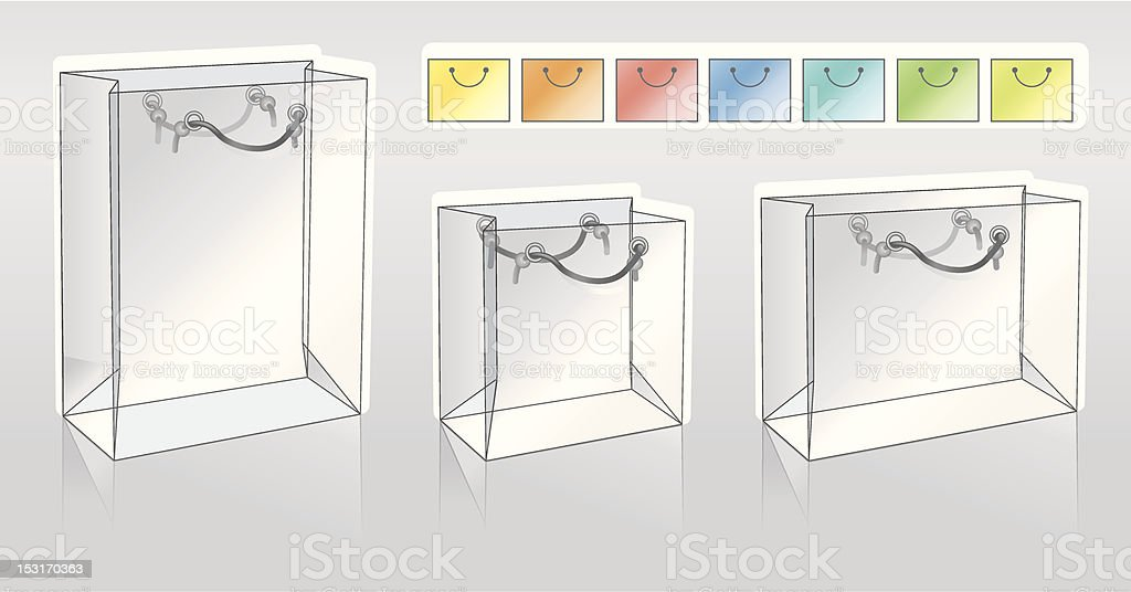 Three shopping packets royalty-free three shopping packets stock vector art & more images of bag