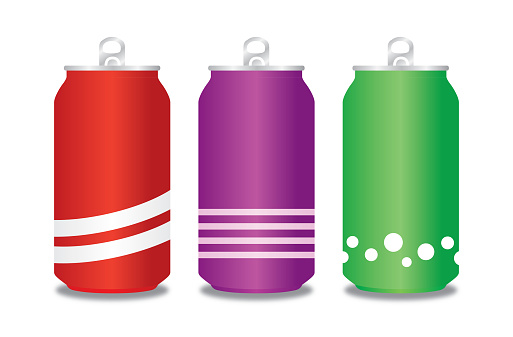 Three Soda Cans Illustration