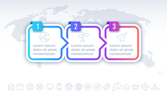 Three Step Process Infographic