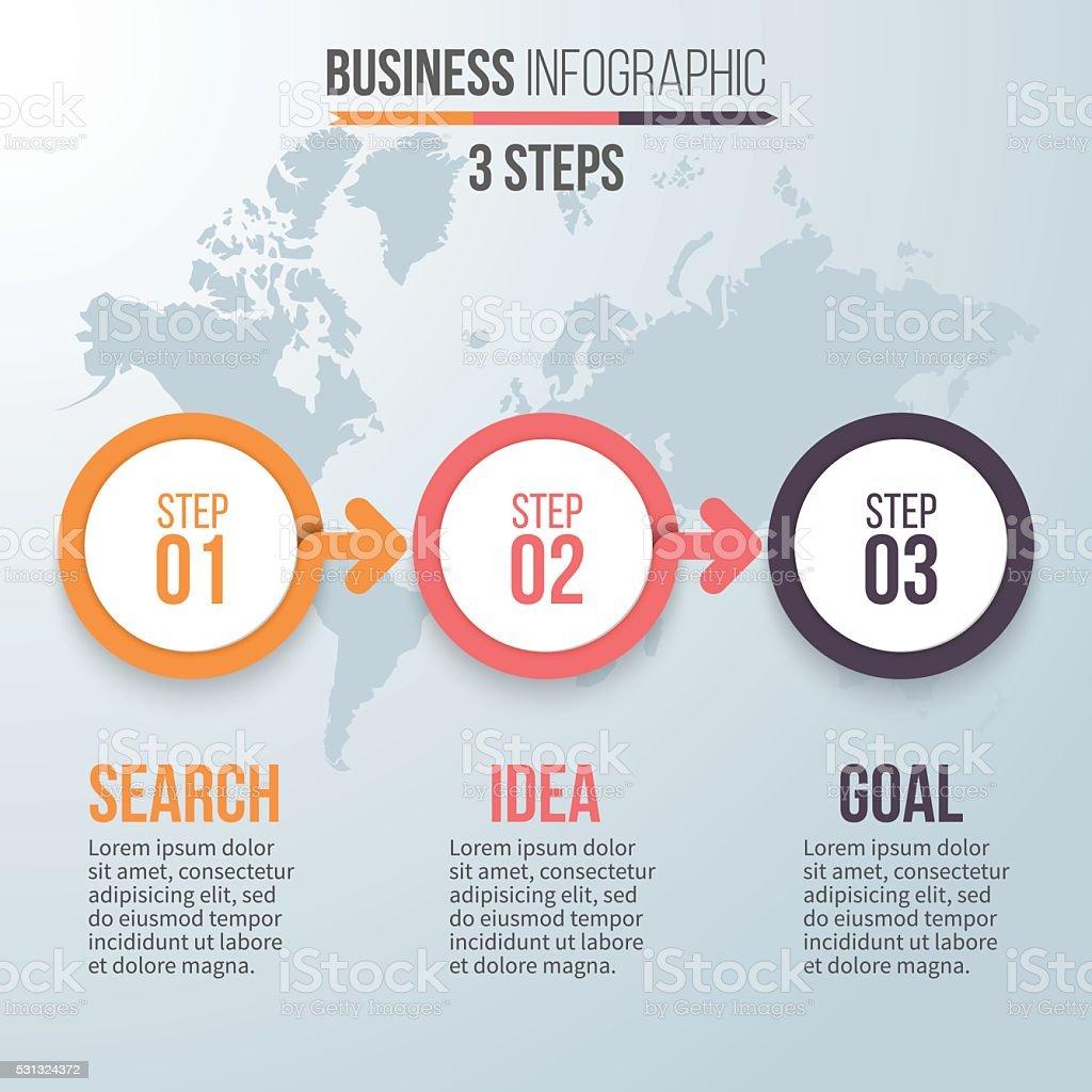 Three steps infographics. Vector design element. vector art illustration