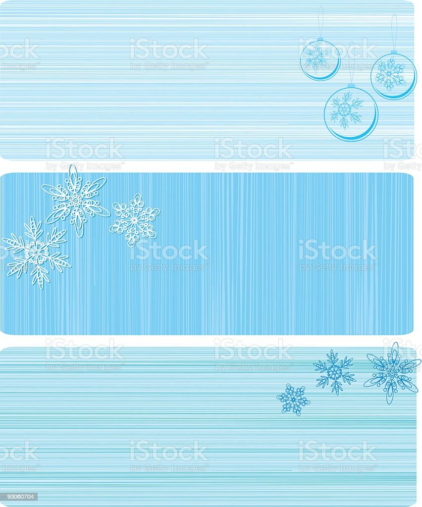Three striped winter  banners royalty-free stock vector art