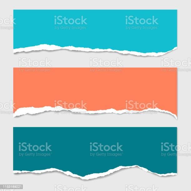 Three stripes of colored torn paper with shadow and with space for vector id1153189221?b=1&k=6&m=1153189221&s=612x612&h=tm9axv36l7hsmbjl5yl9r96q73paswqxi njoa9qbnc=