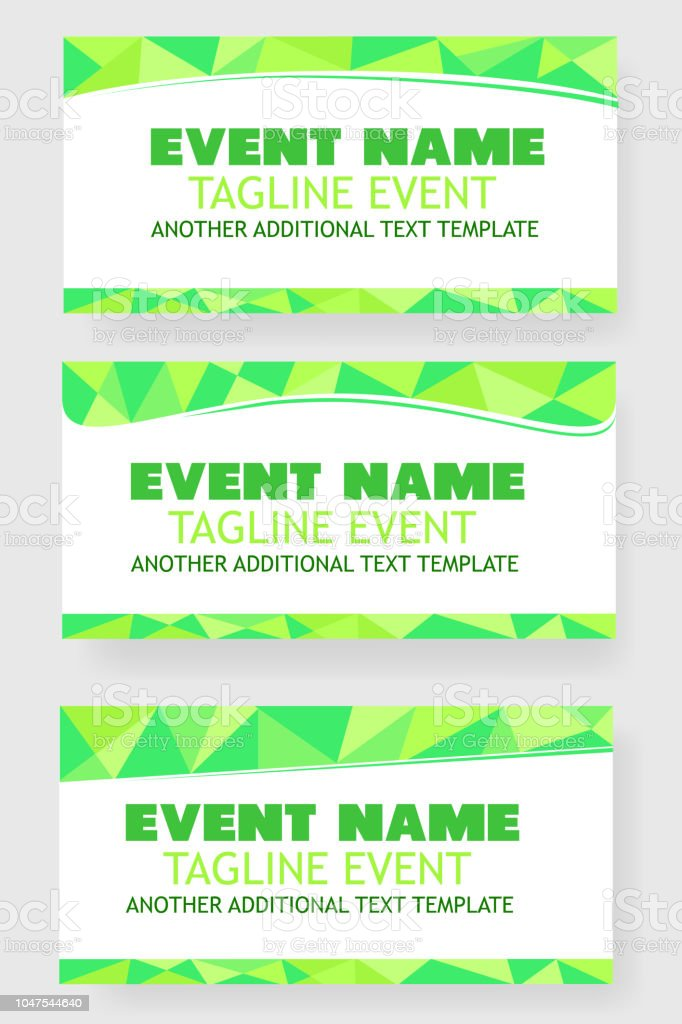 three style light green triangle template event banner or backdrop
