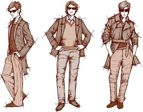 Three stylish men