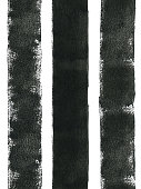 istock Three thick black lines painted carelessly by paint roller and thick black paint - seamless abstract art isolated on white paper background with visible uneven paint application - dots spots splashes and dirties - stock illustration- małe.jpg Three thick 1209025653