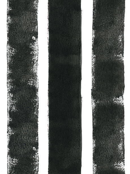 Three thick black lines painted carelessly by paint roller and thick black paint - seamless abstract art isolated on white paper background with visible uneven paint application - dots spots splashes and dirties - stock illustration- małe.jpg Three thick Three thick vertical lines in black painted by thick black paint and small sponge paint roller on A4 printing paper. Seamless pattern rich in details - natural spontaneous lines imprints transparencies.  SEAMLESS PATTERN - duplicate it vertically and/or horizontally to get unlimited area without visible connections!  VECTOR FILE - enlarge without lost the quality!  HIGH DETAILED FILE - zoom to see the details! paint roller stock illustrations
