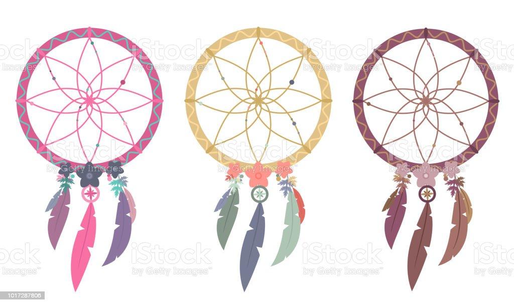 Ilustración de Tres Variaciones De Colorido Vector Ilustraciones Del ...