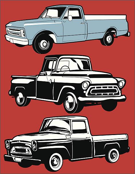 Best Vintage Truck Illustrations, Royalty-Free Vector ...