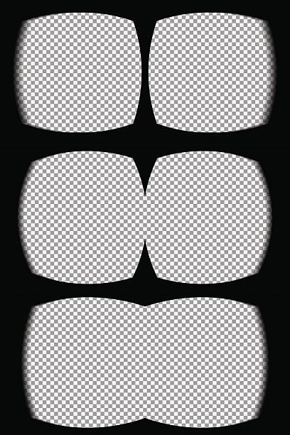 Three vr helmet overlays – Vektorgrafik