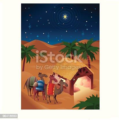 istock Three Wise Men Christmas Nativity 96418550