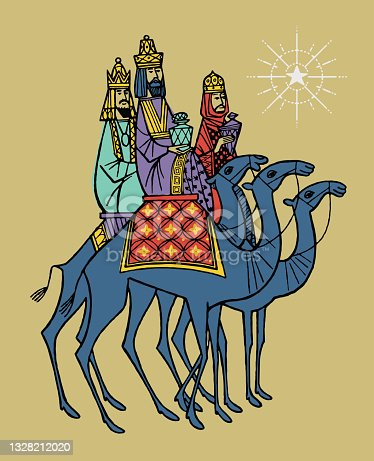 istock Three Wise Men on Camels 1328212020